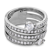 Hearts On Fire Aerial Four Row Right Hand Diamond Ring