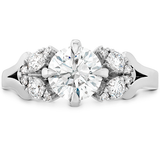 Hearts On Fire Aerial Petal Diamond Engagement Ring