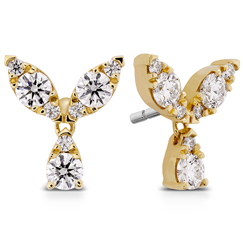 Hearts On Fire Aerial Petal Diamond Stud Earrings