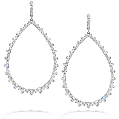 Hearts On Fire Aerial Pointed Teardrop Diamond Earrings