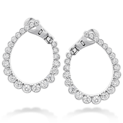 Hearts On Fire Aerial Regal Diamond Hoop Earrings