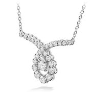 Hearts On Fire Aerial Regal Scroll Drop Diamond Necklace