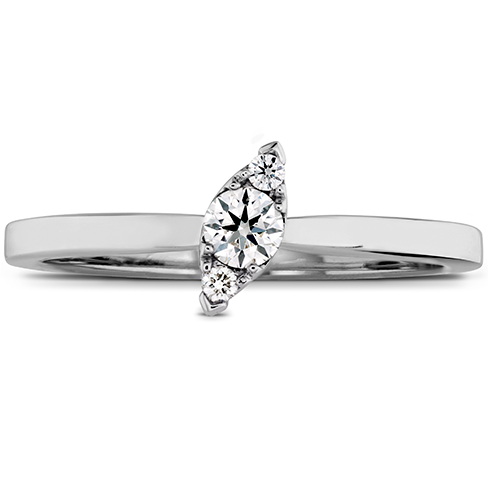 Hearts On Fire Aerial Stackable Regal Angle Diamond Band