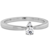 Hearts On Fire Aerial Stackable Teardrop Diamond Band