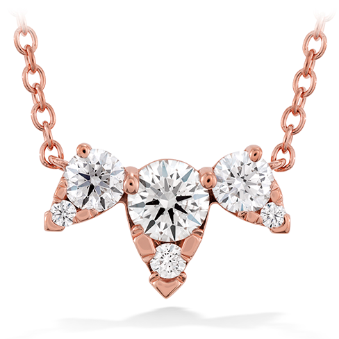 Hearts On Fire Aerial Triple Round Diamond Pendant Necklace