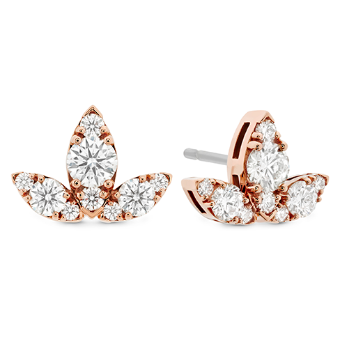Hearts On Fire Aerial Triple Diamond Stud Earrings