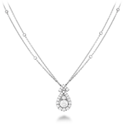 Hearts On Fire Aerial Victorian Halo Drop Pendant Necklace