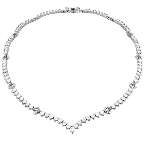Hearts On Fire Aerial Victorian Line Necklace