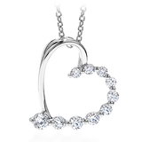 Hearts On Fire Amorous Journey Heart Pendant Necklace