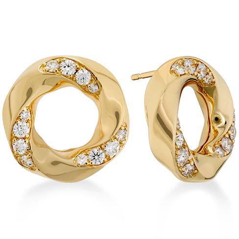 Hearts On Fire Atlantico Circle Diamond Earrings