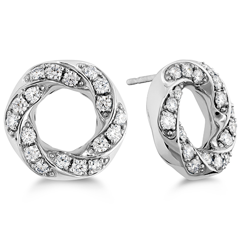 Hearts On Fire Atlantico Circle Pave Diamond Earrings