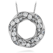 Hearts On Fire Atlantico Circle Pave Pendant Necklace