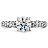 Hearts On Fire Atlantico Pave Diamond Engagement Ring