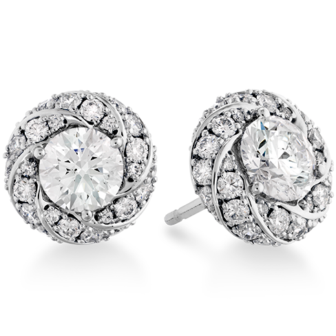 Hearts On Fire Atlantico Pave Stud Diamond Earrings