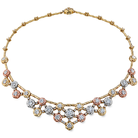 Hearts On Fire Atlantico Tri Color Diamond Necklace