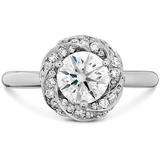 Hearts On Fire Atlantico Wave Diamond Halo Engagement Ring