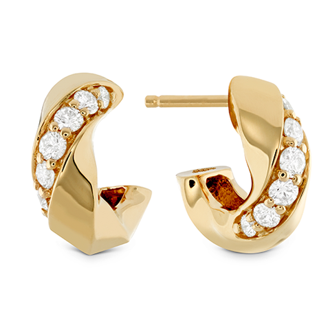 Hearts On Fire Atlantico Wave Diamond Hoops