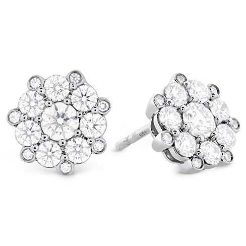 Hearts On Fire Beloved Cluster Diamond Earrings