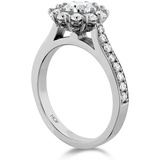 Hearts On Fire Beloved Open Gallery Engagement Ring with Diamond Band