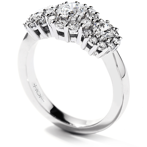 Hearts On Fire Beloved Three Stone Engagement Ring