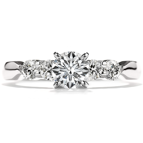 Hearts On Fire Five-Stone Engagement Ring