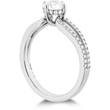 Hearts On Fire Brielle Split Shank Engagement Ring