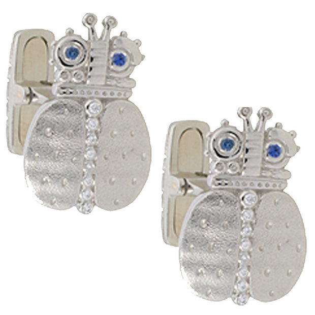 Alex Sepkus Skeptical Beetle Cufflinks - C-25P