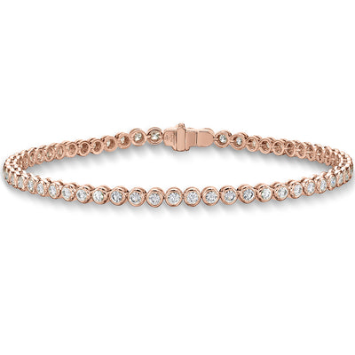 Passion Collection Diamond Line Classic Rose Gold Bracelet