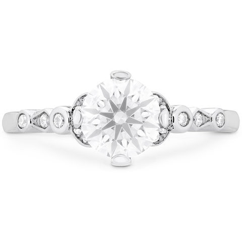 Hearts On Fire Cali Chic Double Petal Bezel Diamond Engagement Ring