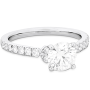 Hearts On Fire Cali Chic Double Petal Diamond Engagement Ring