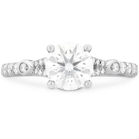 Hearts On Fire Cali Chic Petal Split Shank Diamond Engagement Ring