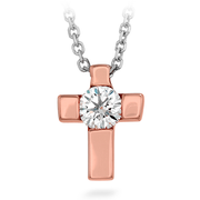 Hearts On Fire Charmed Cross Pendant Necklace