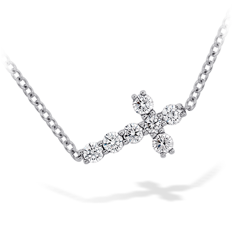 Hearts On Fire Charmed Horizontal Diamond Cross Necklace