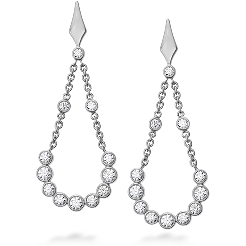 Hearts On Fire Copley Bezel Diamond Drop Earrings