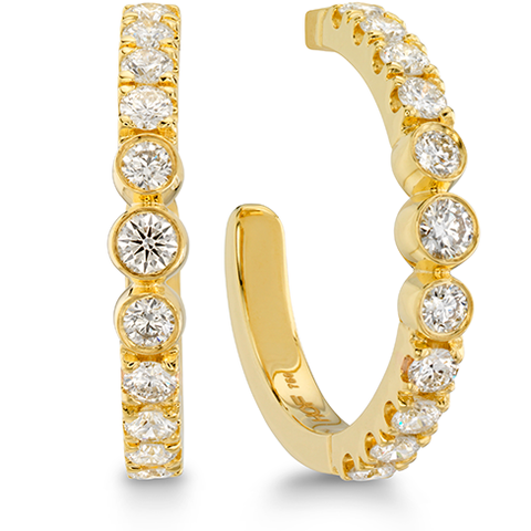 Hearts On Fire Copley Bezel Hoop Diamond Earrings