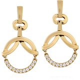 Hearts On Fire Copley Circle Diamond Drop Earrings