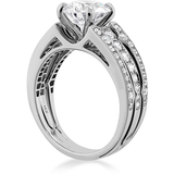 Hearts On Fire Copley Diamond Triple Row Diamond Engagement Ring