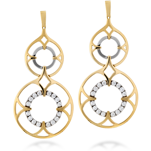 Hearts On Fire Copley Double Diamond Drop Earrings