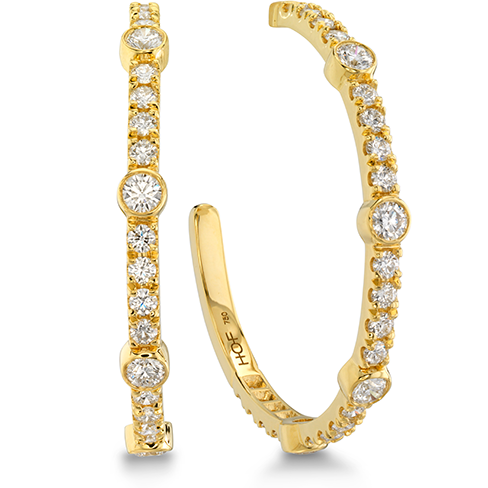 Hearts On Fire Copley Large Bezel Hoop Diamond Earrings