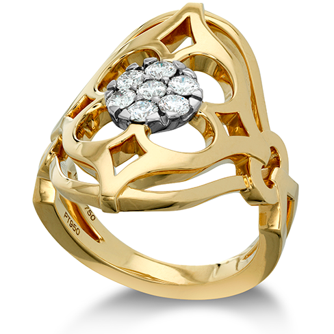 Hearts On Fire Copley Pave Right Hand Diamond Ring