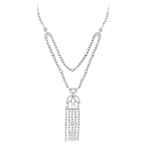 Hearts On Fire Copley Tassel Diamond Necklace