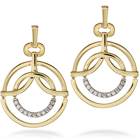 Hearts On Fire Copley Single Circle Diamond Earrings