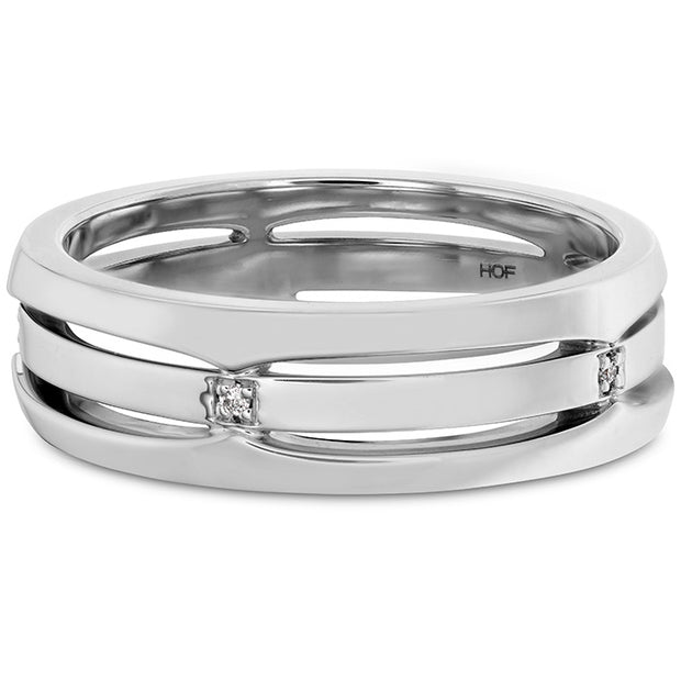Hearts On Fire Triple Row Men's Diamond Band