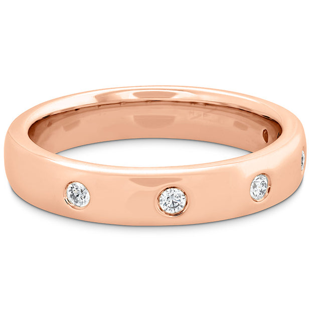 Hearts On Fire Coupled Multi Diamond Round Burnish Band