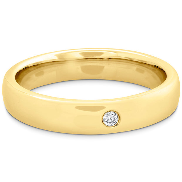 Hearts On Fire Coupled Single Diamond Round Burnish Band