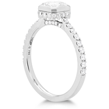 Hearts On Fire Deco Chic Dream Bezel Diamond Engagement Ring