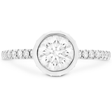 Hearts On Fire Deco Chic Bezel Diamond Engagement Ring