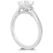 Hearts On Fire Deco Chic Milgrain Diamond Engagement Ring