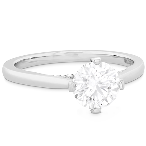 Hearts On Fire Deco Chic Solitaire Diamond Engagement Ring