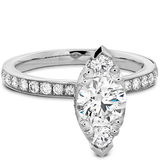 Hearts On Fire Desire Regal Engagement Ring with Diamond Band